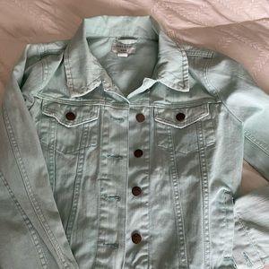 Aqua denim jacket! Size med